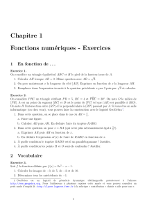 Exercices de seconde