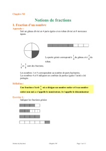 Notions de fractions - e