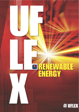 renewable energy - Ultraflex Group