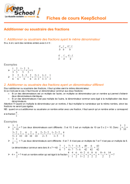 Additionner ou soustraire des fractions