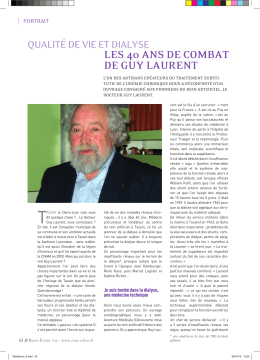 les 40 ans de comBat de Guy laurent - Rein