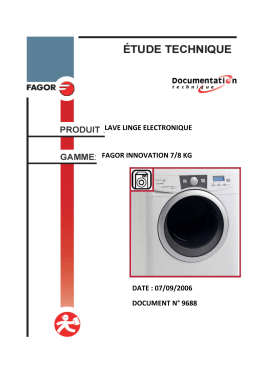 LAVE LINGE ELECTRONIQUE FAGOR INNOVATION 7/8 KG DATE