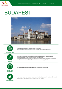 budapest - Voyages Internationaux
