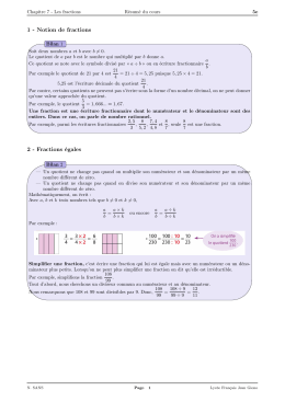 1 - Notion de fractions 2