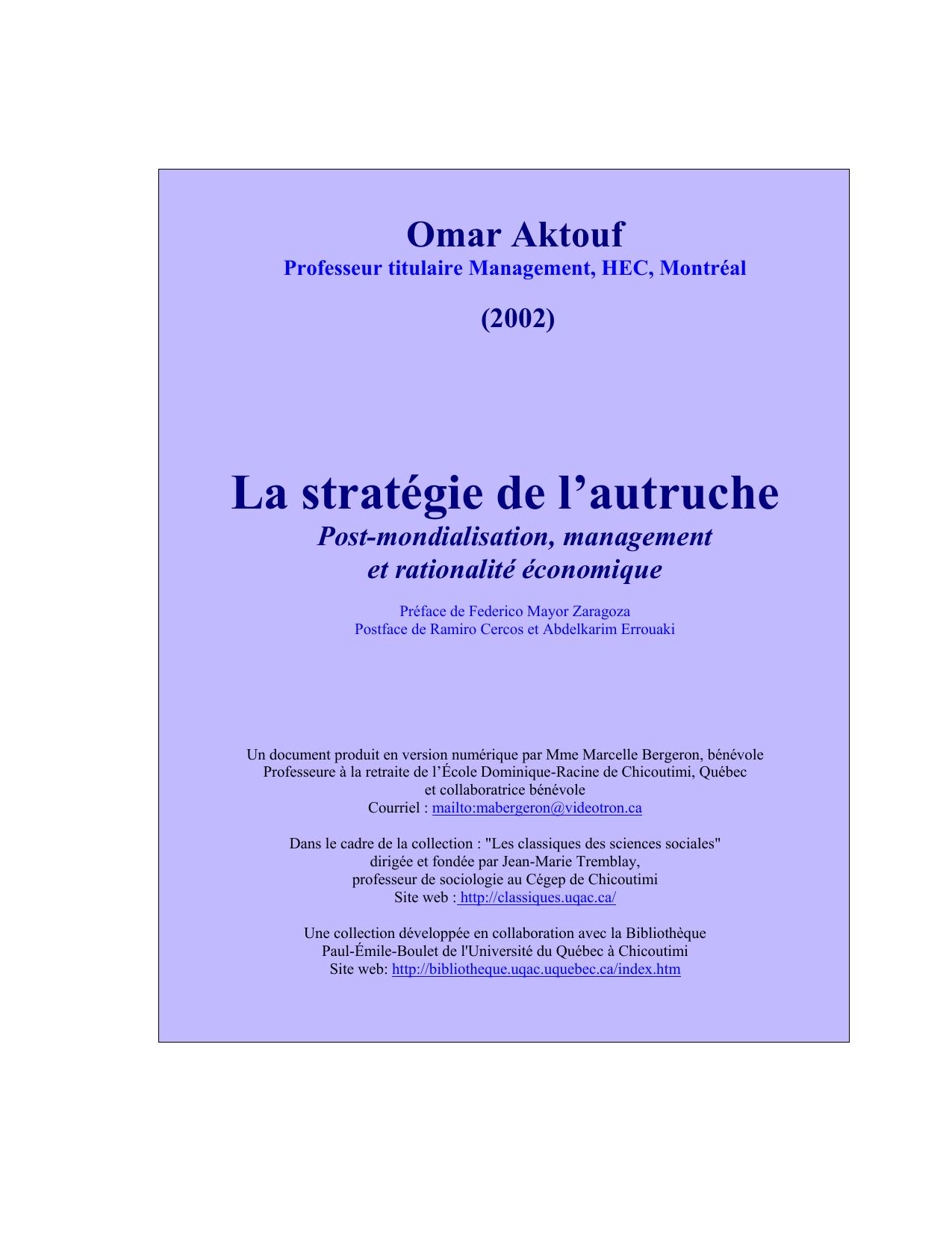 La De Stratégie Stratégie Mondialisation La L`autruchePost De Mondialisation L`autruchePost La v08ONwmn