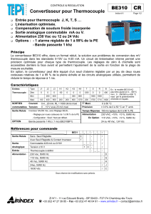 BE310 CR Convertisseur pour Thermocouple