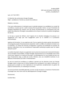 Candidature Aurélien Mary CS
