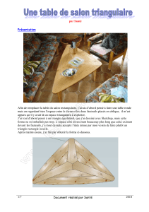 table triangulaire