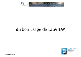 du bon usage de LabVIEW