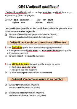 GR9 L`adjectif qualificatif