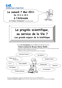 Le progrès scientifique, au service de la Vie ?