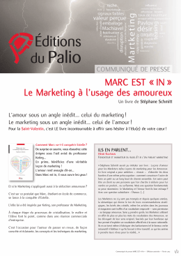 MARC EST « IN » Le Marketing à l`usage des amoureux - Tarbes