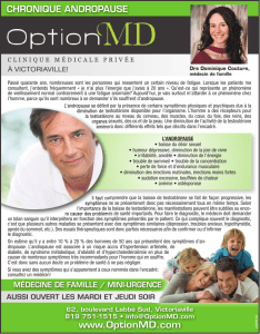 CHRONIQUE ANDROPAUSE www.OptionMD.com