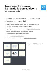 Liens video you tube - Forum des Enseignants Innovants