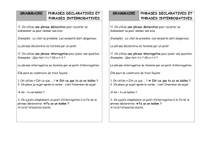 grammaire phrases declaratives et phrases interrogatives