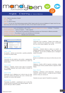 Anglais - E-learning en Visio