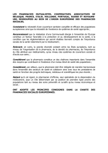 les pharmacies mutualistes, cooperatives, associatives de