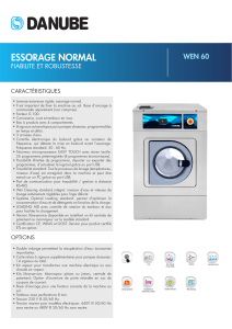 essorage normal - Danube International