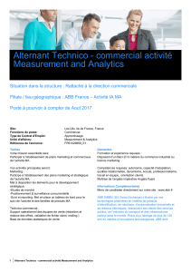 Alternant Technico - commercial activité Measurement and Analytics