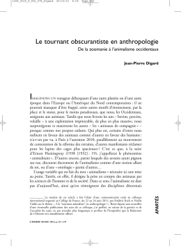 Le tournant obscurantiste en anthropologie
