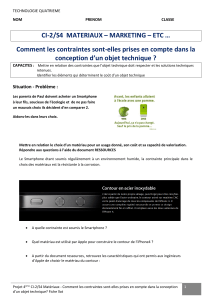 CI-2/S4 MATERIAUX – MARKETING – ETC … Comment les