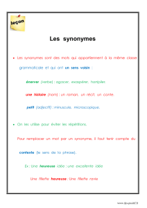 Les synonymes - Dys