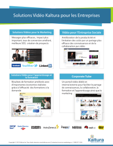 Video Solution for Enterprise Use Cases - French