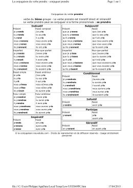 conjugaison verbe prendre