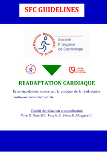 SFC GUIDELINES READAPTATION CARDIAQUE