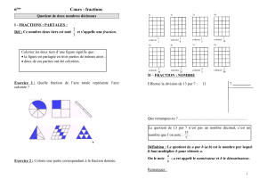 6 Cours - fractions