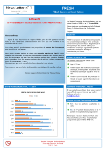 News Letter n° 1 FRESH FREnch Survey on Heart failure
