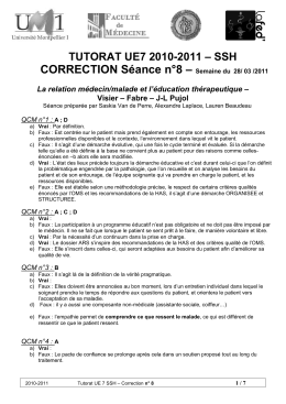 – CORRECTION Séance n°8 – SSH