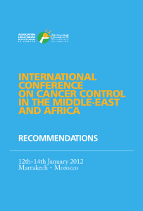 INTERNATIONAL CONFERENCE ON CANCER CONTROL IN THE MIDDLE-EAST