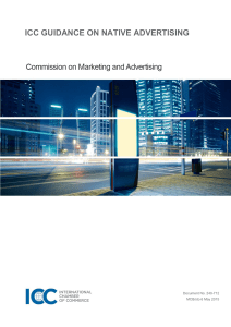 ICC GUIDANCE ON NATIVE ADVERTISING