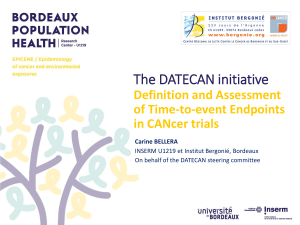 The DATECAN initiative Definition and Assessment of Time-to-event Endpoints in CANcer trials