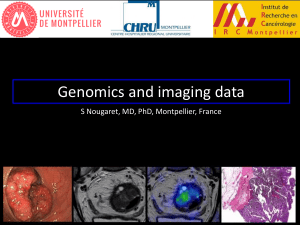 Genomics and imaging data S Nougaret, MD, PhD, Montpellier, France