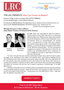 THE LRC PRESENTS: How Can Cancer be Beaten?