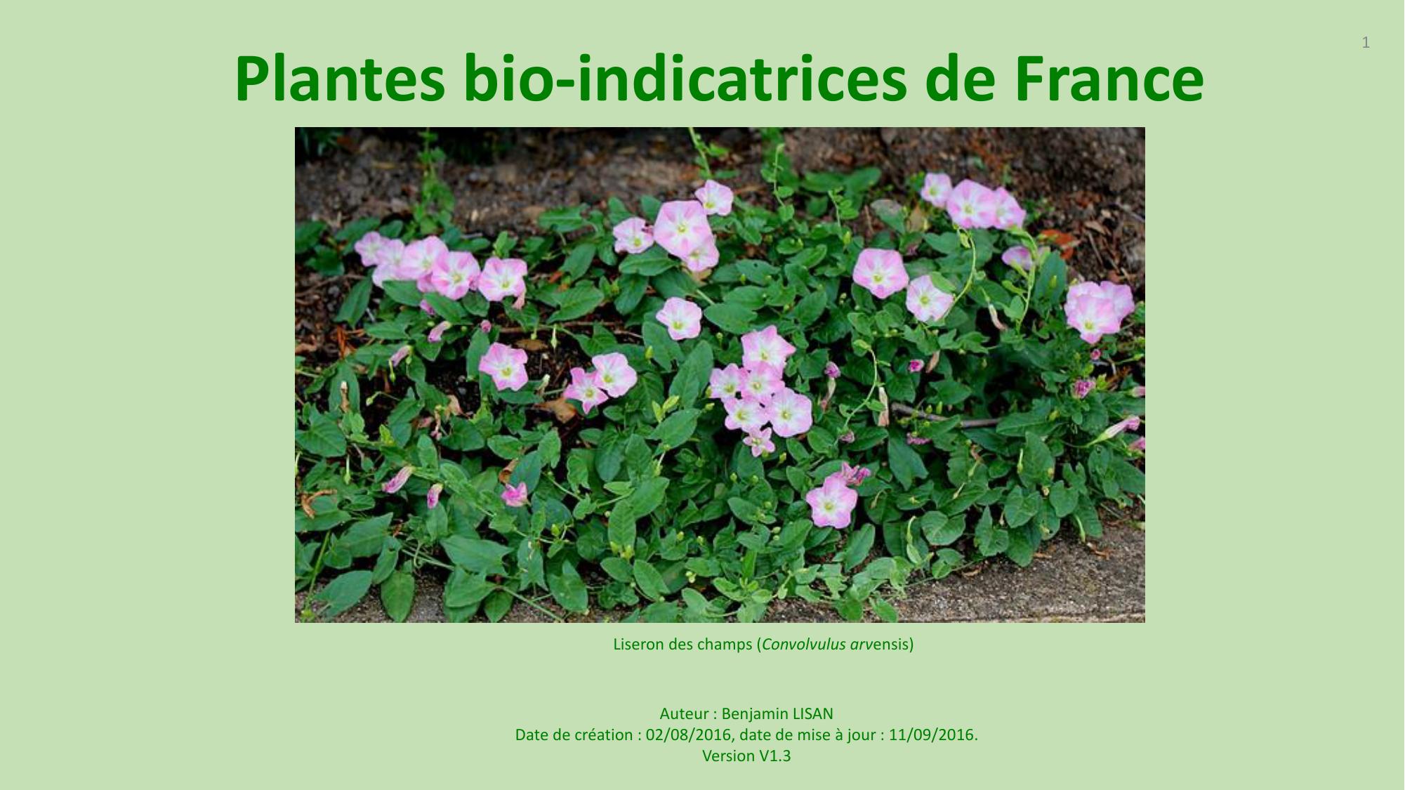 plantes bio-indicatrices de france