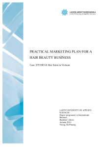 PRACTICAL MARKETING PLAN FOR A HAIR BEAUTY BUSINESS