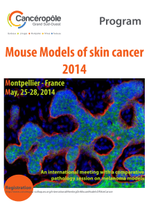 Mouse Models of skin cancer 2014 Program M