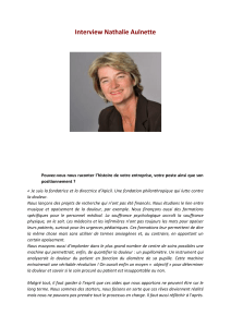 Interview Nathalie Aulnette