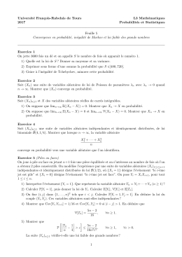 Universit´ e Fran¸ cois-Rabelais de Tours L3 Math´