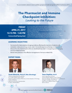 The Pharmacist and Immune  Checkpoint Inhibition: Looking to the Future