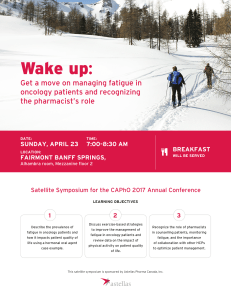 Wake up: Get a move on managing fatigue in