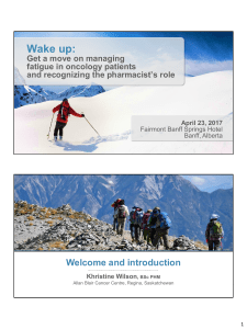 Wake up: Welcome and introduction Get a move on managing