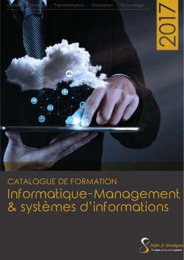 Informatique-Management & systèmes d'informations CATALOGUE DE FORMATION