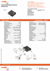 Carte technologie Brushless