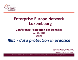 Enterprise Europe Network Luxembourg IBBL – data protection in practice