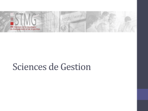 Sciences de gestion programme