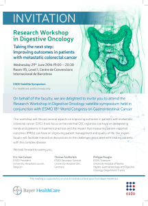 INVITATION Research Workshop in Digestive Oncology Taking the next step: